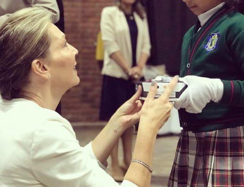Primera Dama visita Colegio Técnico Menorah